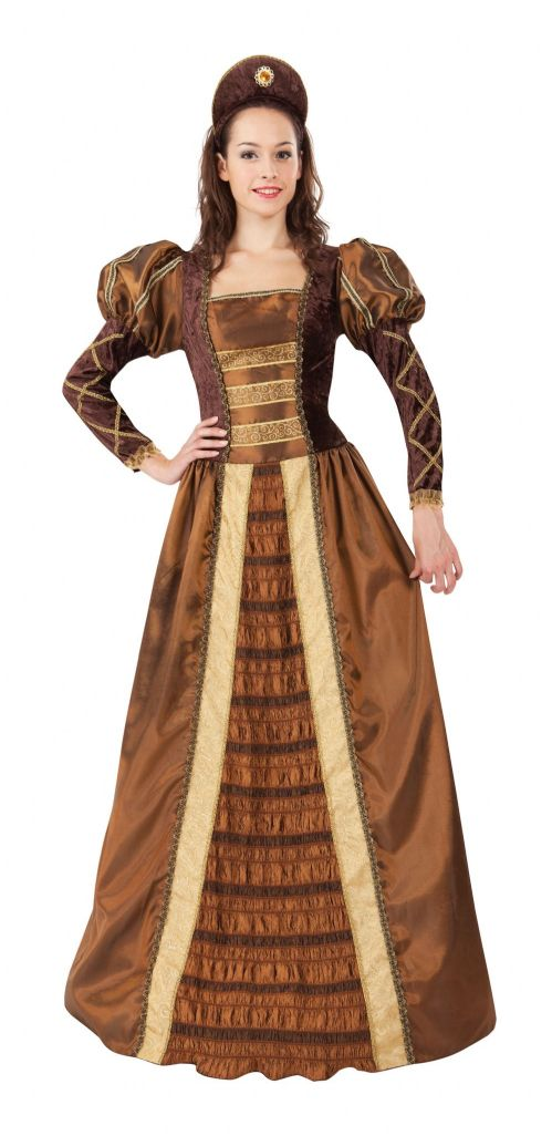 Ladies Golden Queen Costume Royal Regal Ruler Leader Fancy Dress Outfit
